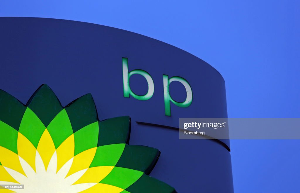 An illuminated sign stands on the forecourt of a BP gas station, operated by BP Plc, in Upminster, U.K., on Thursday, Feb. 28, 2013. BP Plc's push to maximize profits and cut costs at the Macondo well was a 'root cause' of the explosion that led to the 2010 Gulf of Mexico oil spill, a safety expert who studied the disaster said. Photographer: Chris Ratcliffe/Bloomberg via Getty Images