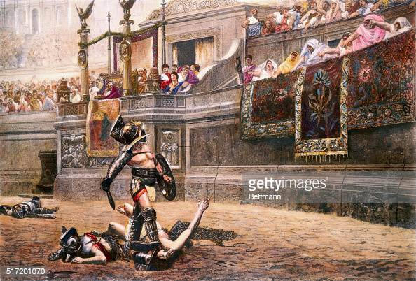Illustration After Pollice Verso by Jean-Leon Gerome ...