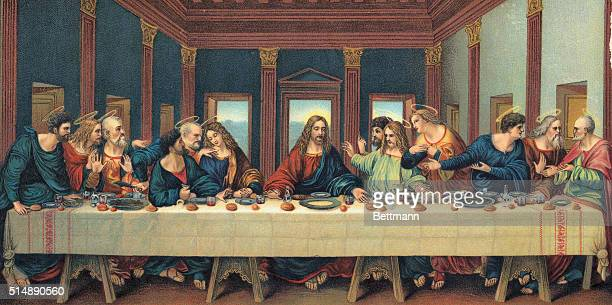 An illustration based after The Last Supper by Leonardo da Vinci