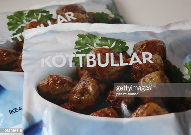 An illustration dated 25 February 2013 shows a bag of frozen Swedish meatballs from IKEAhome products store in BerlinGermany Czech officials have...