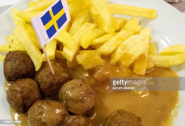 An illustration dated 25 February 2013 shows a portion of IKEA meatballs on a plate with potatoes and sauce in Hanover Germany IKEAhas also stopped...