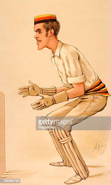 An illustration featuring the Middlesex and England cricketer Alfred Lyttelton, dated 1884. The artist was Carlo Pellegrini who was also known as...