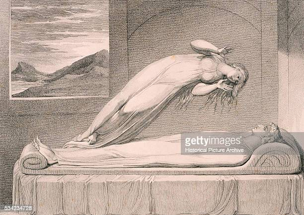 An illustration from a series designed for a publication of the poem The Grave by Robert Blair The illustration was designed by William Blake and...