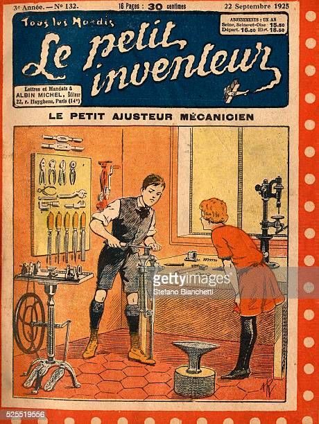 An illustration from Le Petit Inventeur a French children's magazine