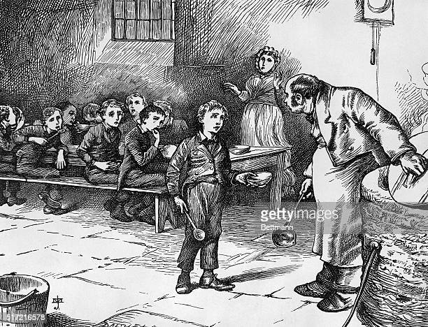 An illustration from Oliver Twist by Charles Dickens.