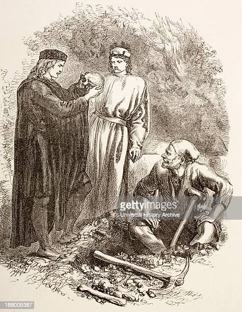An Illustration From The Graveyard Scene Act V Scene I In Hamlet Hamlet Holds The Skull Of Yorick From The Illustrated Library Shakspeare Published...