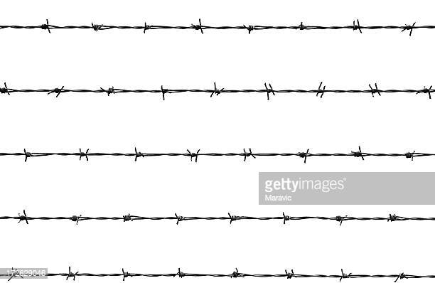 an illustration of a barb wire - barbed wire stock pictures, royalty-free photos & images