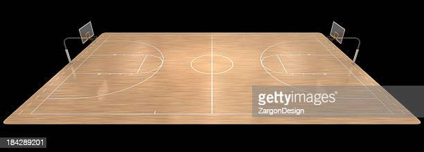 An illustration of a basketball court