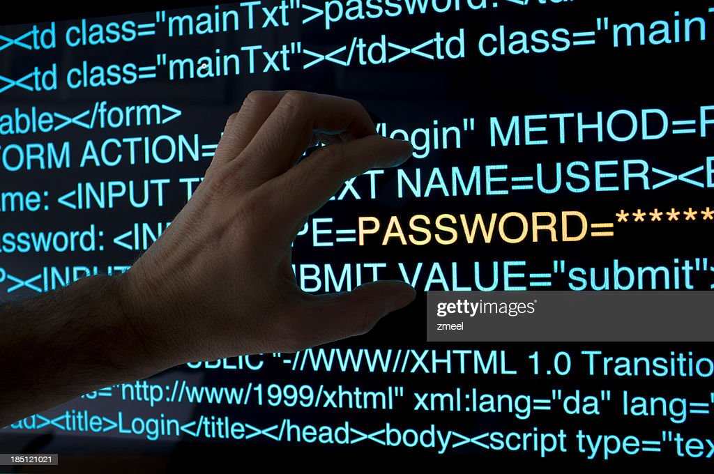 An illustration of a stealing password concept : Stock Photo