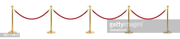 an illustration of a velvet rope - cordon boundary stock pictures, royalty-free photos & images