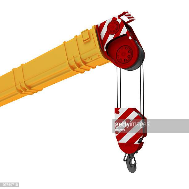 an illustration of a yellow, red and white colored crane - crane stock pictures, royalty-free photos & images