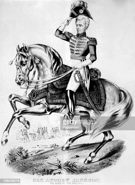 An illustration of General Andrew Jackson the hero of the Battle of New Orleans and later United States president circa 1815 This image is from the...