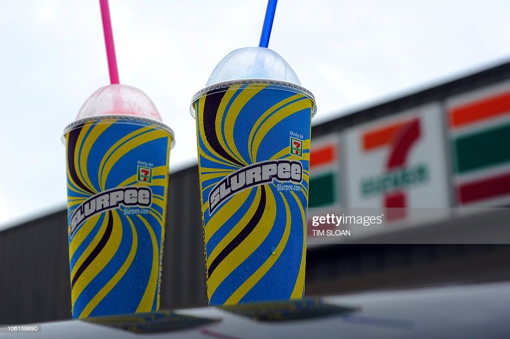 An illustration of Two, 7-Eleven Slurpee : News Photo