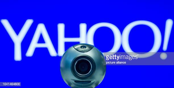 ILLUSTRATION An illustration shows a webcam in front of the logo of Yahoo in Berlin Germany 28 February 2014 Accodring to a report in the 'Guardian'...