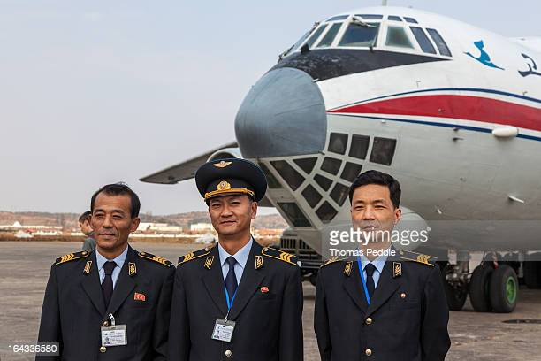 An Ilyushin 76 crew from Air Koryo, North Korea's only airline.