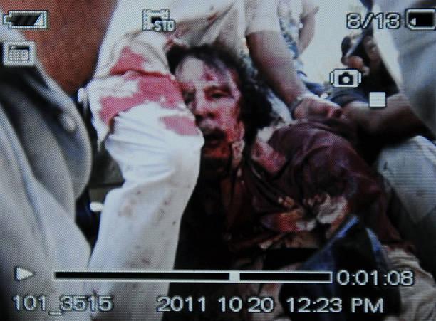 LBY: 20 October 2011 - (GRAPHIC CONTENT) Libyan Leader Muammar Gaddafi Killed