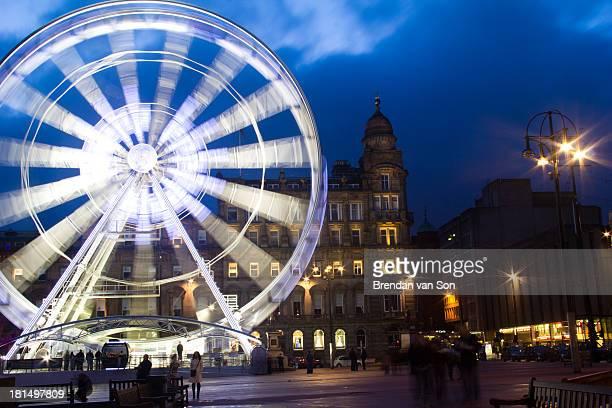 An image of a ferris wheel in Glasgow, Scotland