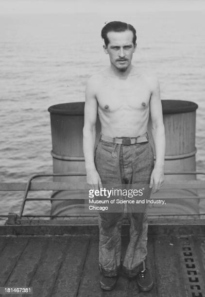 An image of a POW captured on the German submarine U505 June 16 1944 In 1954 the vessel was put on display at Chicago's Museum of Science and Industry