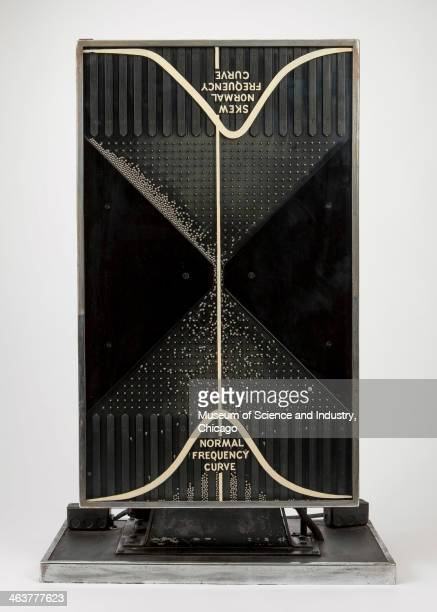 An image of a Quincunx or Probability Machine from the 1933 A Century of Progress World's Fair based on a device originally invented by Sir Francis...