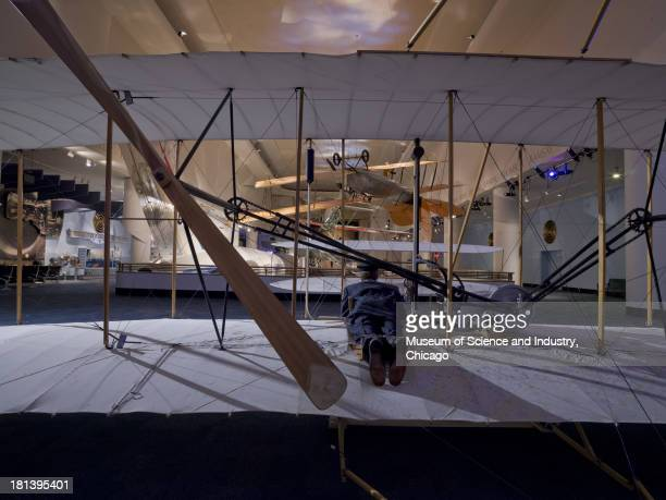 An image of a replica of the 1903 Wright Flyer which was the first such replica in the United States to achieve powered flight during the centennial...