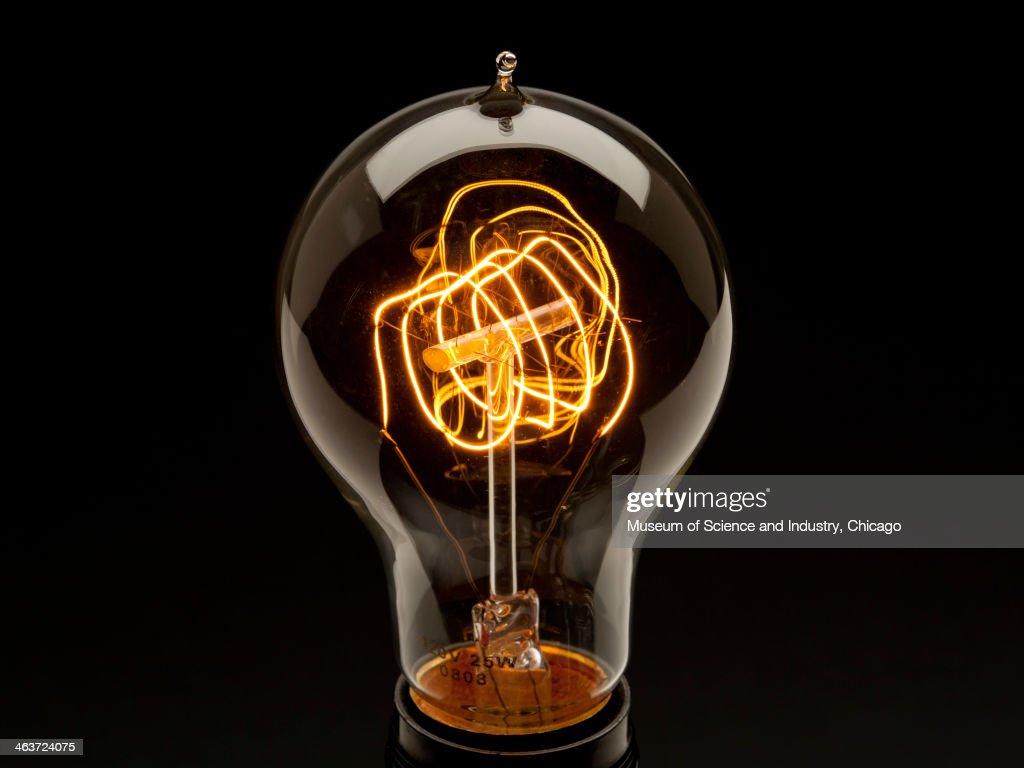 Early 20th Century Lightbulb : News Photo