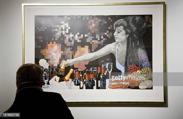 An Image Of Amy Winehouse At Gerald Laing'S Graphics Exhibition At Morton Metropolis London