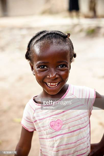 An image of an African little girl smiling