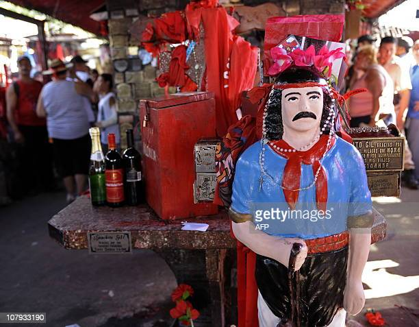 An image of folk saint Gauchito Gil at his sanctuary near Mercedes in the Argentine province of Corrientes on January 8 2011 The cult of Gauchito Gil...