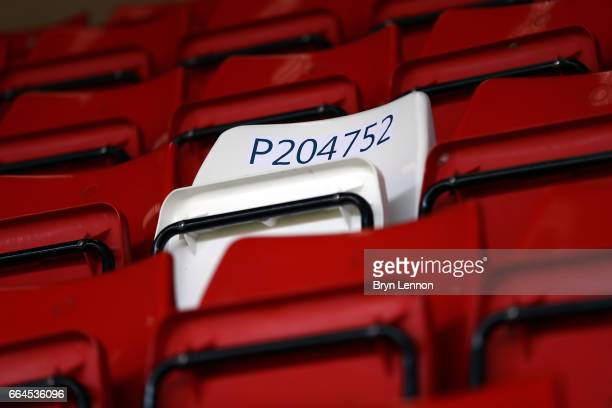 An image of PC Keith Palmer's seat prior to the Sky Bet League One match between Charlton Athletic and Milton Keynes Dons at The Valley on April 4,...