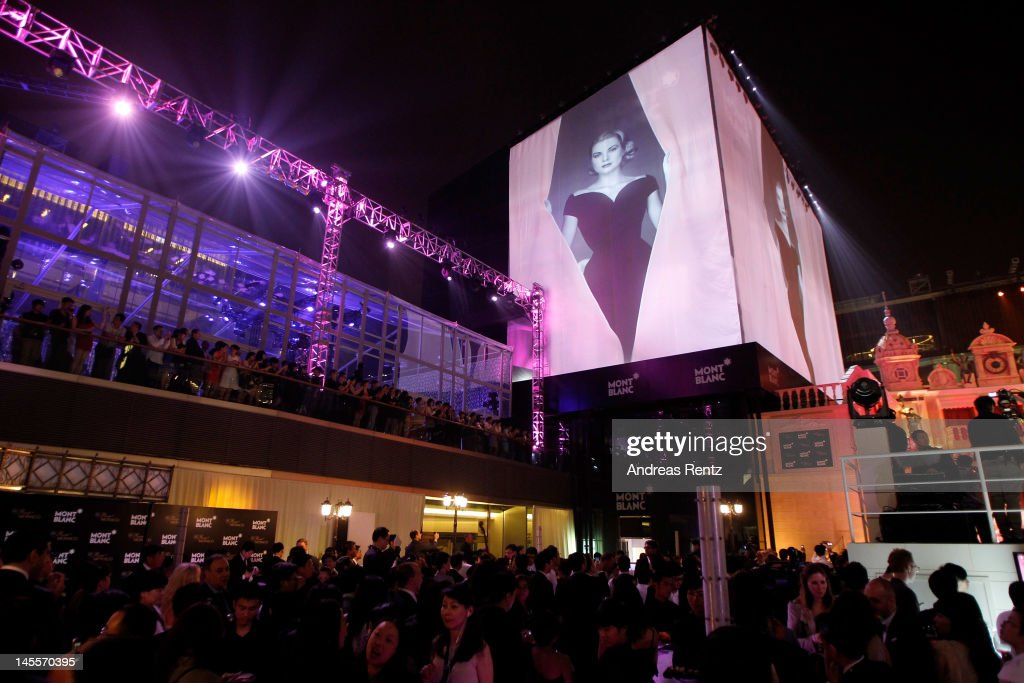 An image of Princess Grace Kelly is draped along the outside the the Montblanc Sanlitun Concept Store prior to the unveiling during the Montblanc international gala to celebrate the official opening of its new and biggest concept store in the world on June 1, 2012 in Beijing, China.
