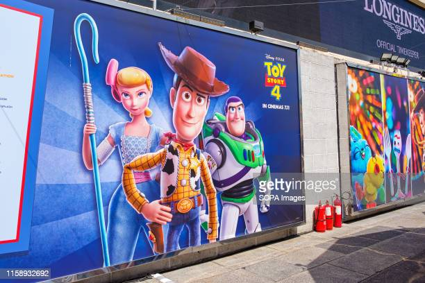 An image of Sheriff Woody Buzz Lightyear and Bo Peep seen during the Carnival Toy Story 4 is celebrated with a themed carnival of different games and...