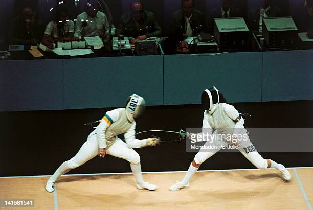 An image of the final race of individual Women's foil and the assault between the Italian Antonella Ragno and the Swedish Kerstin Palm. The Italian...