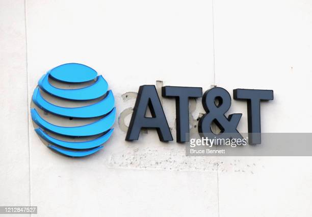 An image of the sign for AT&T as photographed on March 16, 2020 in East Setauket, New York.