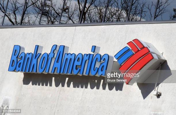 An image of the sign for Bank of America as photographed on March 162020 in Melville New York