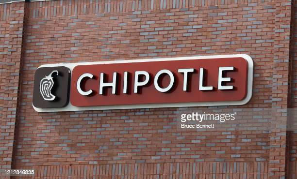 An image of the sign for Chipotle as photographed on March 16 2020 in Wantagh New York