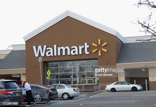 An image of the sign for Walmart as photographed on March 16, 2020 in East Setauket, New York.