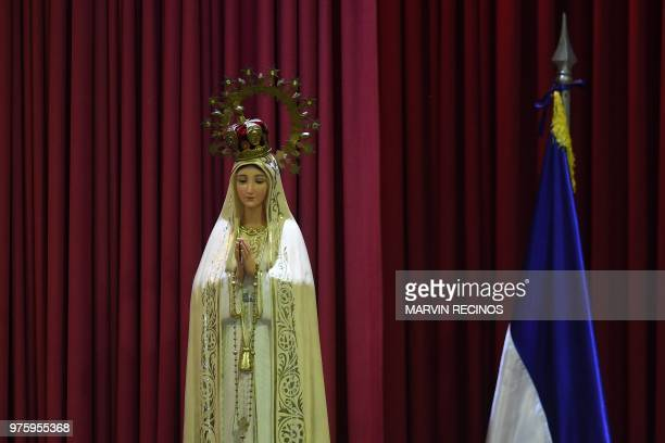 An image of the Virgin is seen in the interdiocesan Seminar Our Lady of Fatima where the national dialogue is carried out between the sectors of the...