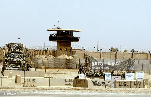 An image taken 02 May 2004 shows the entrance of Abu Ghraib prison west of Baghdad The USled coalition faced mounting pressure to allow an...
