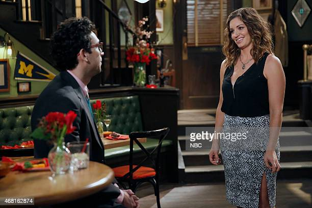 UNDATEABLE An Imaginary Torch Walks Into A Bar Episode 204 Pictured Rick Glassman as Burski Bianca Kajlich as Leslie