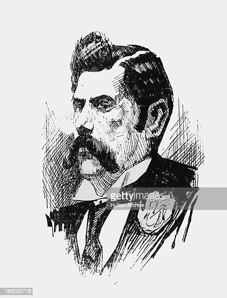 An imagined portrait of the unidentified serial killer known as Jack the Ripper circa 1890 At least five murders attributed to the killer took place...