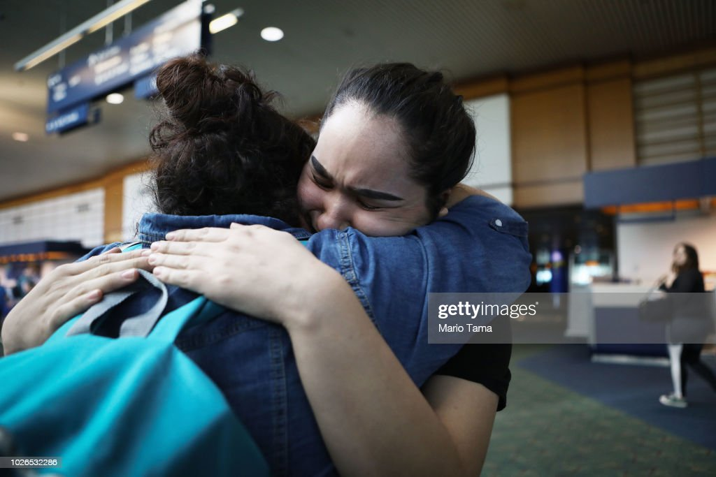 Asylum Seeking Mexican Immigrant Reunited With Family After Months Of Detainment : News Photo
