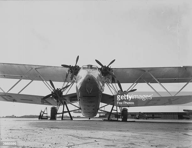 An Imperial Airways Handley Page 42 'Hannibal' liner.
