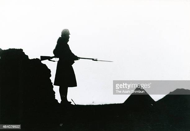 An Imperial Japanese Army soldier in patrol during the battle of Khalkhin Gol circa June 1939 in Mongolia The battle of Khalkhin Gol was the border...
