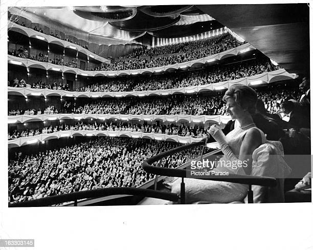 An impressive full house inside the Metropolitan Opera House at Lincoln Center Plaza during the grand opening in New York City New York 1966