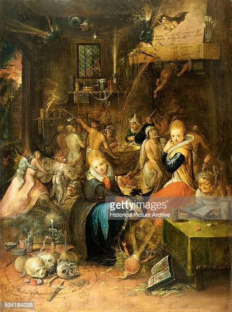 An Incantation Scene by Frans Francken the Younger