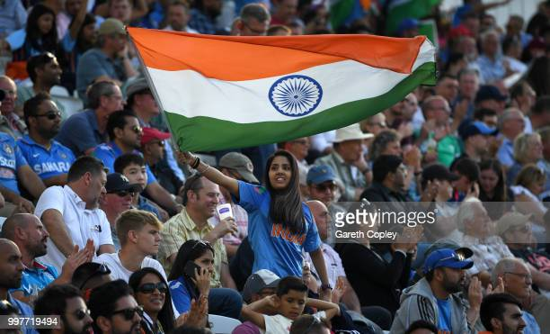 An India fan during the Royal London OneDay match between England and India at Trent Bridge on July 12 2018 in Nottingham England