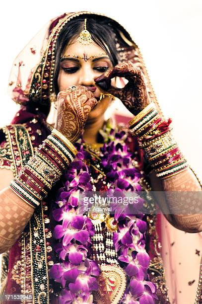 An Indian Bride Getting Ready