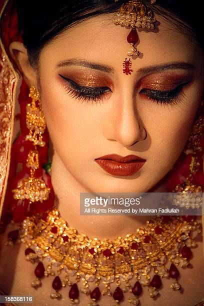 An indian bride with jewelries