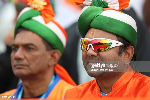 An Indian fan during The Womens World Cup 2017 SemiFinal between Australia and India at The County Ground on July 20 2017 in Derby England