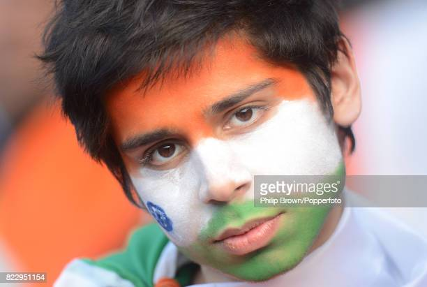 An Indian fan watches the ICC Champions Trophy group match between India and Pakistan at Edgbaston Birmingham 15th June 2013 India won the match by 8...